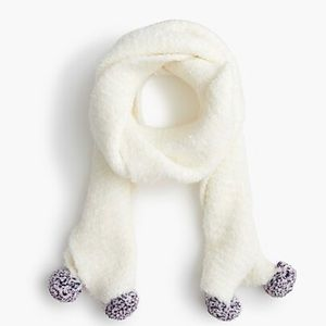 J crew crew cuts girls knit scarf with Pom poms